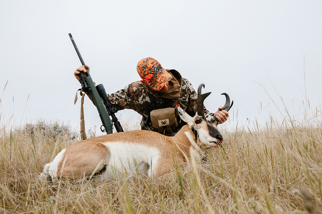 Dan took a moment to admire the heavy horns on his first pronghorn antelope.