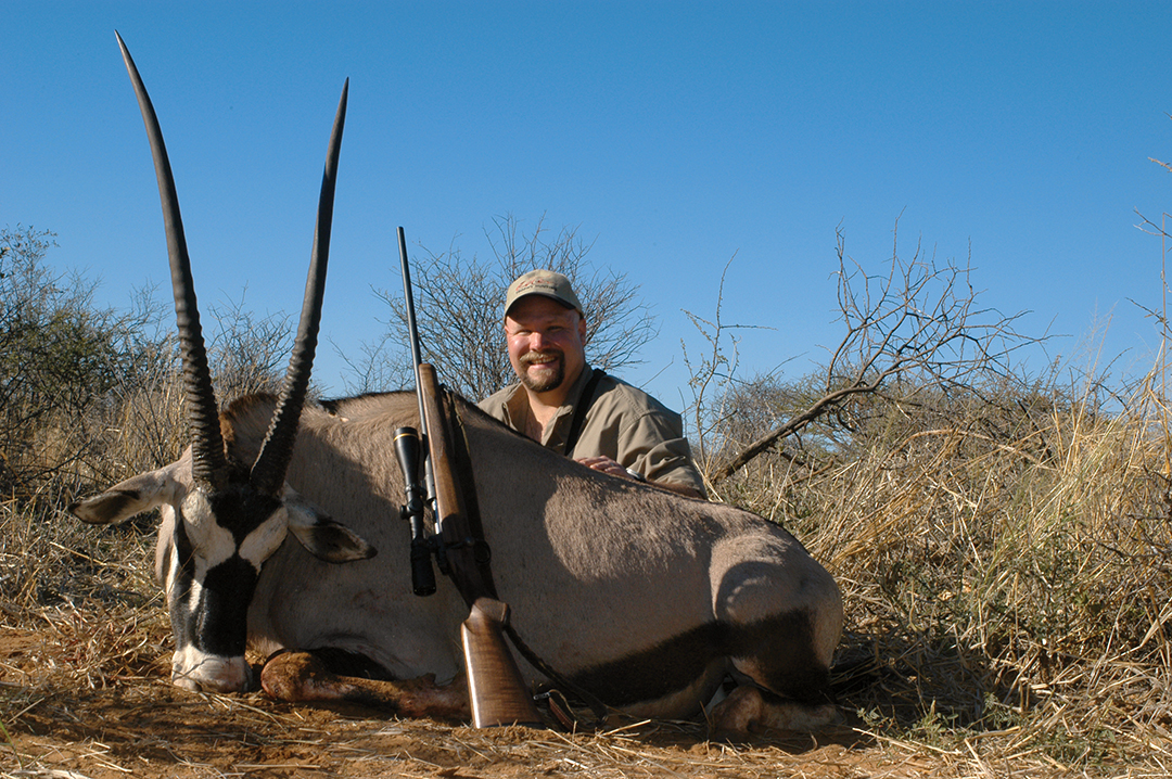 Oryx are strikingly handsome and can be as challenging to stalk as an old kudu bull.
