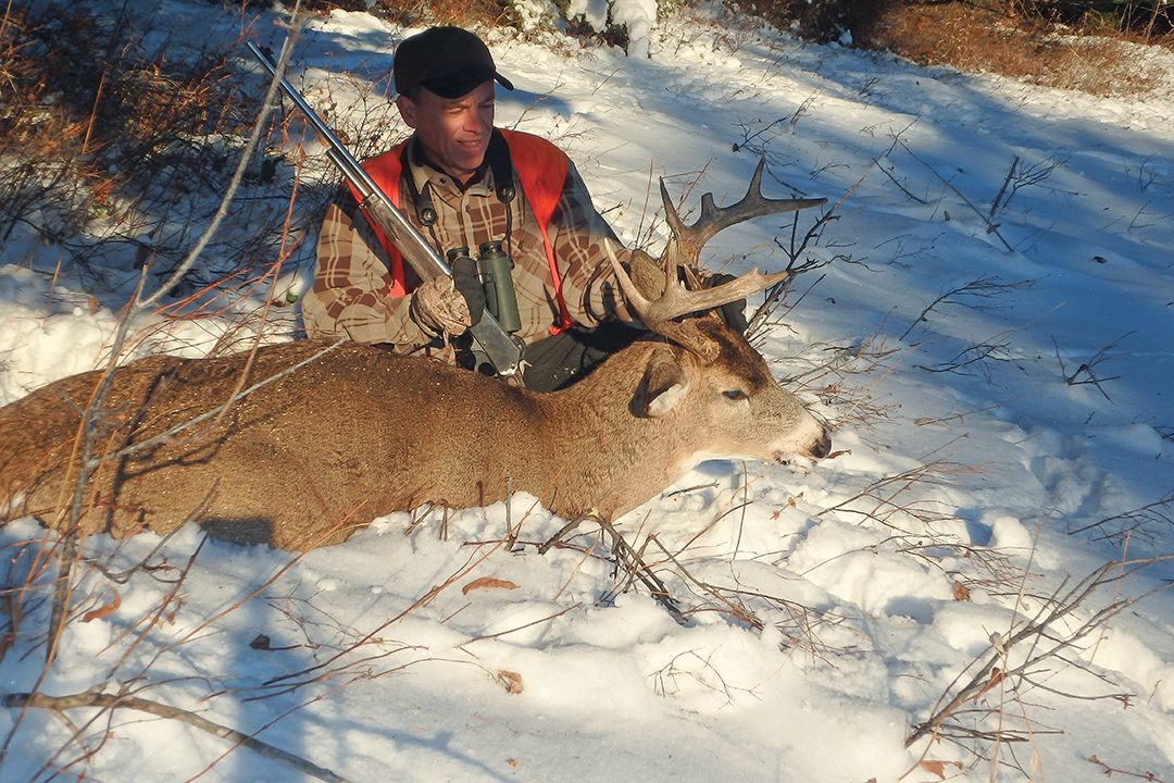 Jack found this large-bodied, white-tailed buck in a swatch of overlooked habitat not far from adjacent private ground.