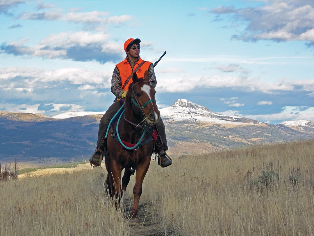With just basic skills and a good mount, riding is an enjoyable aspect of hunting.