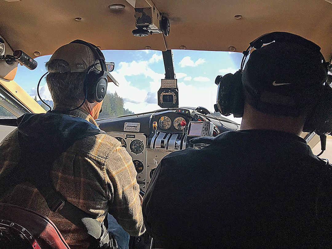 Many bear and moose were spotted during the flight to camp.