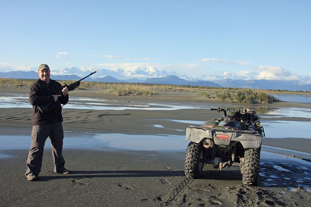 ATVs were used to access high spots from which the hunters could glass for bears.