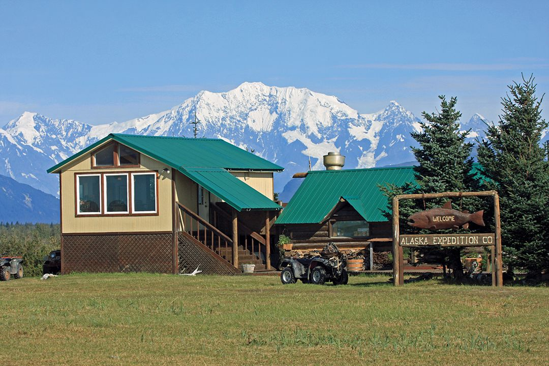 Alaska Expedition Company's camp included all the comforts of home.