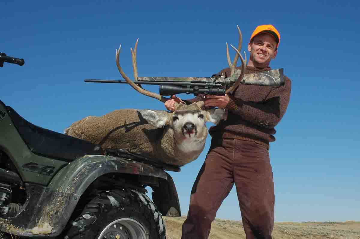 Jack shot this wide buck during an early October hunt on the plains of Wyoming.