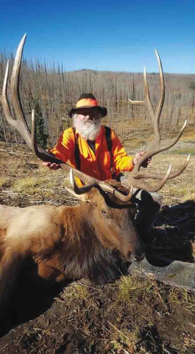 Charlie Butz is happy with the largest elk he has taken in 46 years of hunting public land.