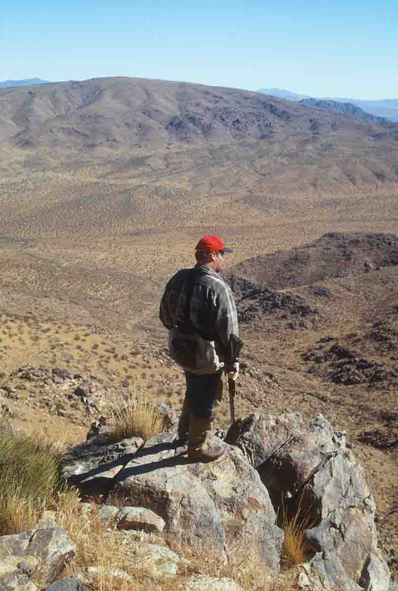 Chukar country appears quite barren, but along with mule deer, they thrive in the dry habitat.