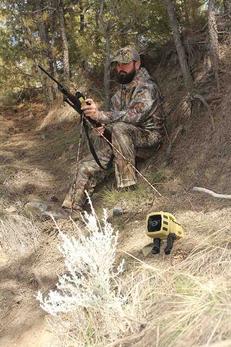 Hunting alone means less disturbance at the setup: less scent, less sound and less movement.