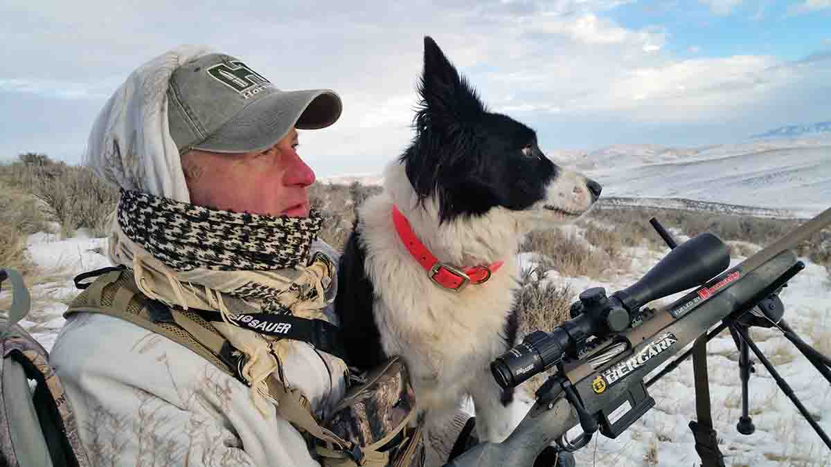 Mark Kayser enjoys hunting alone – sort of. Most of the time he is accompanied by his decoy dog, Sage.  Photo courtesy Mark Kayser