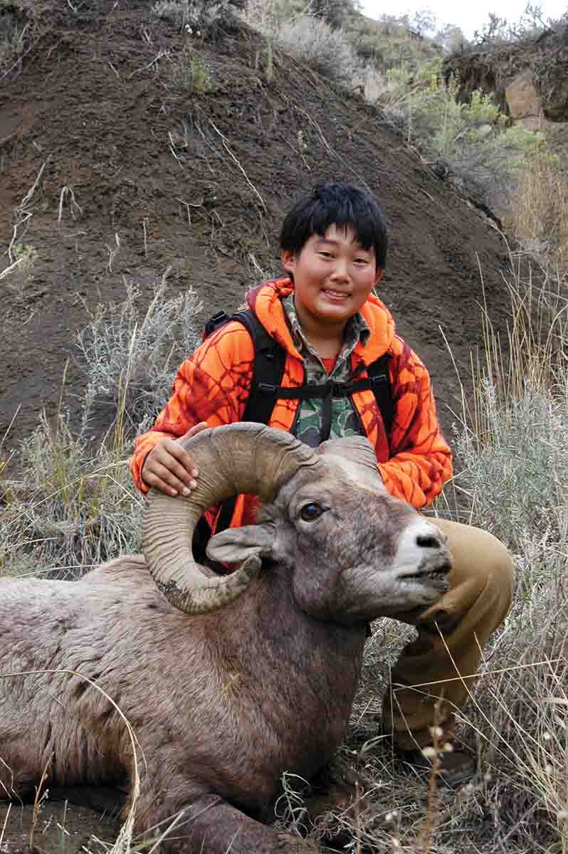 Micah Ballard's one-of-a-kind bighorn was seven years old.