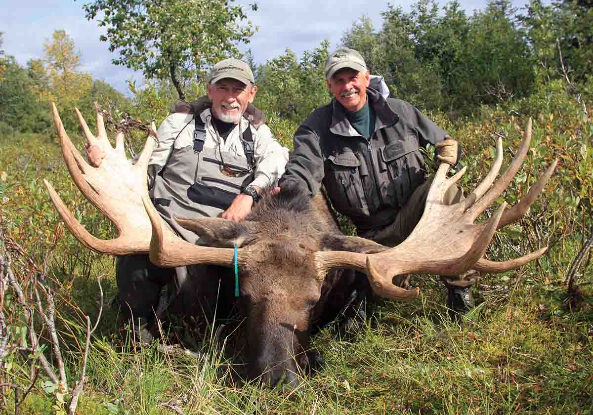 Ron and Charles are quite pleased with the 67-inch bull.