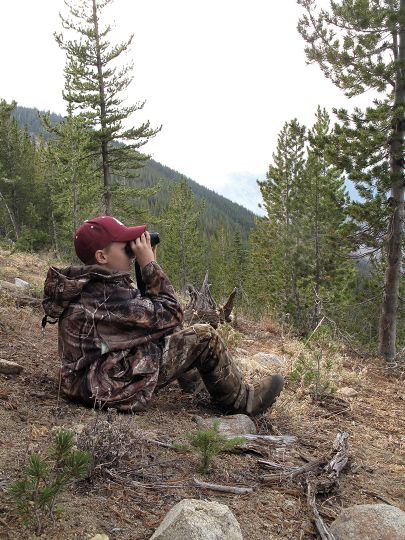 When glassing for bucks on a far ridgeline, a young hunter should be outfitted with quality gear so they don't become discouraged.