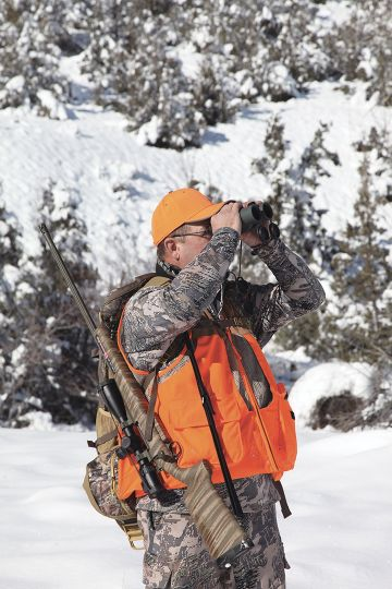 Good optics are critical for scanning the mountainous area, where an elk has abundant opportunity to hide.