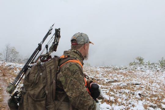 The weather changed dramatically during the moose hunt – from bright, blue sunshine to socked in with snow showers.