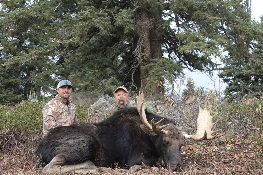 Kaid and RL put in a great deal of time scouting and hunting during various weather conditions before RL could hang his tag on a trophy bull.