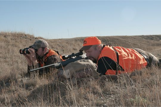 A properly mounted scope improves confidence in the shooter's ability to hit what he's aiming at – in this case a Montana pronghorn.