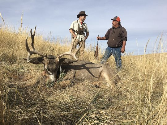 In the right place at the right time, a hunter can run into a fine, Columbia Basin muley buck.