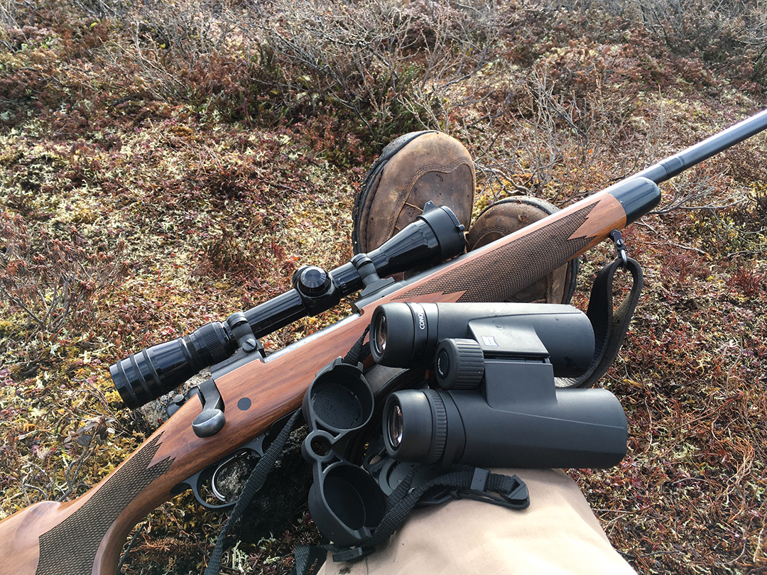 Though Guy considered using his .375 H&H, he instead relied on a familiar Remington 700 .30-06 with an old Redfield scope and Nosler 200-grain Partition bullets.