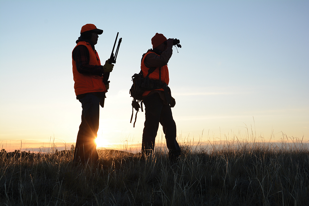Locating areas where animals are driven by other hunters on opening day is an excellent crowd-control technique. It's best to be there by sunrise.