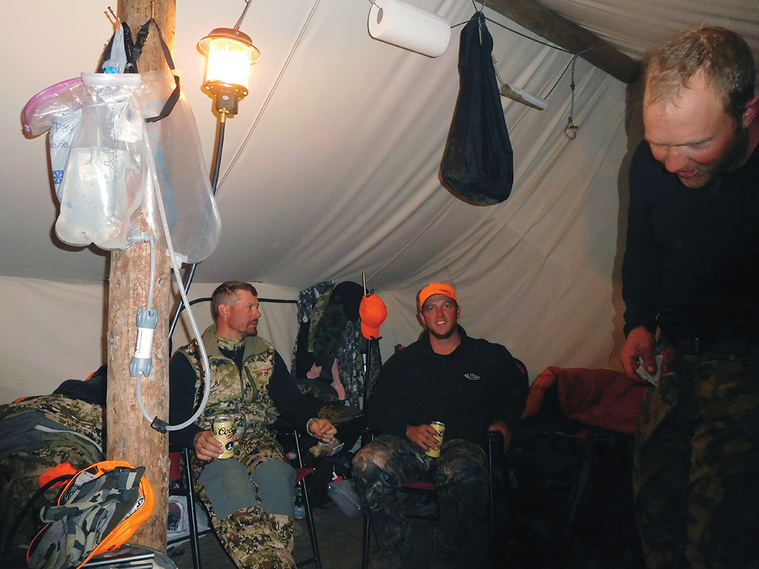 The wall tent definitely made for close quarters, but nightly recaps of the day's activity are part of what make elk camp so fantastic. Stories are told over the hiss of the iconic Coleman lantern giving off just the perfect amount of light.