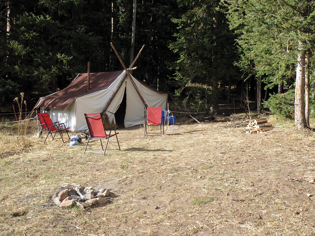 The drop camp was basic but more than adequate. A battery-powered electric fence kept pesky bears from wandering into the sleeping quarters.