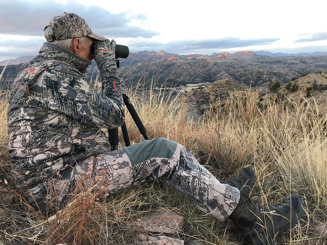 Long-distance glassing is an integral part of Coues' deer hunting, and hours are spent behind good optics.