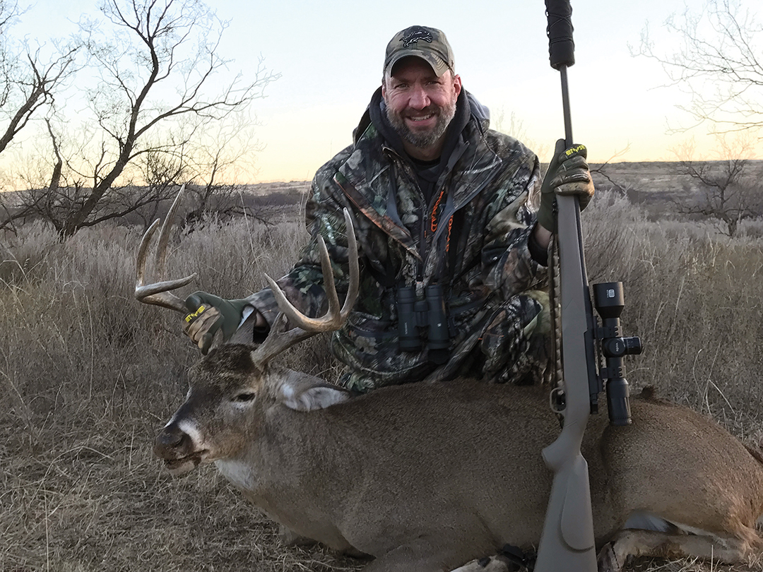 John Bailey beat the late season North Texas heat and shot this 4½-year-old buck by hunting a funnel area.
