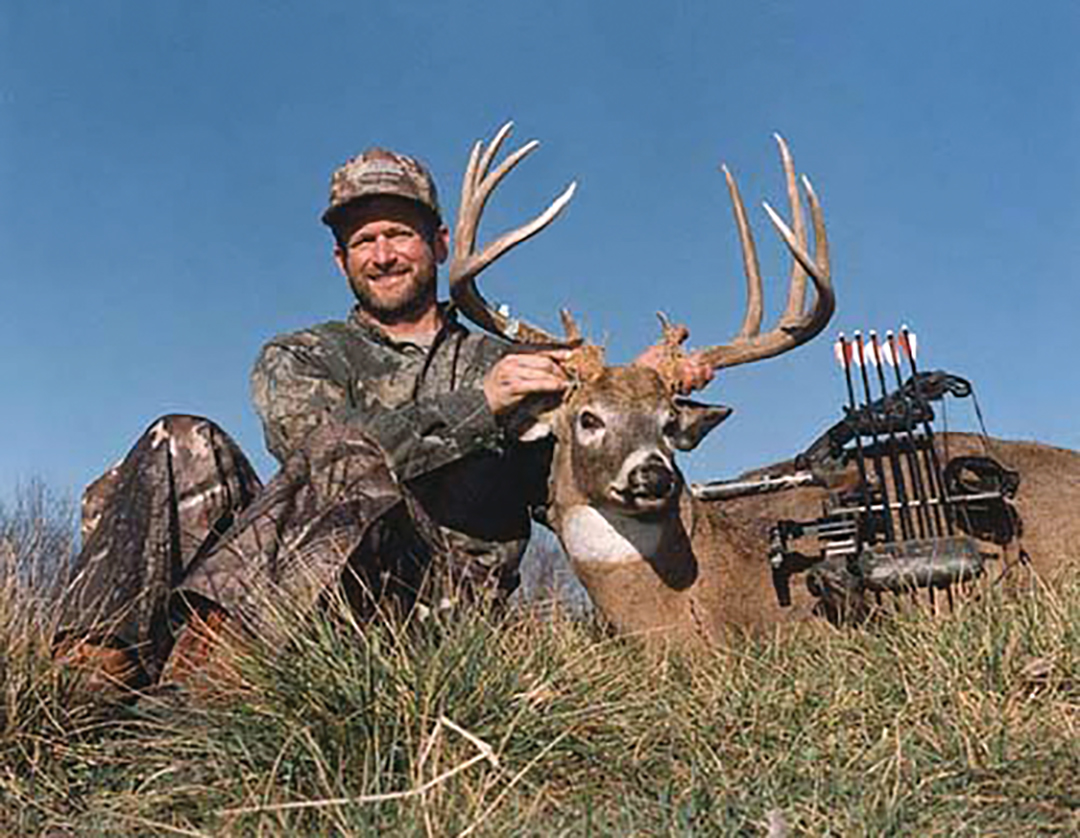 Bob's biggest buck to date scored a net 177-3/8 Boone and Crockett points and was arrowed during record-setting November heat in Illinois. A change of tactics put the hunter in the right place.