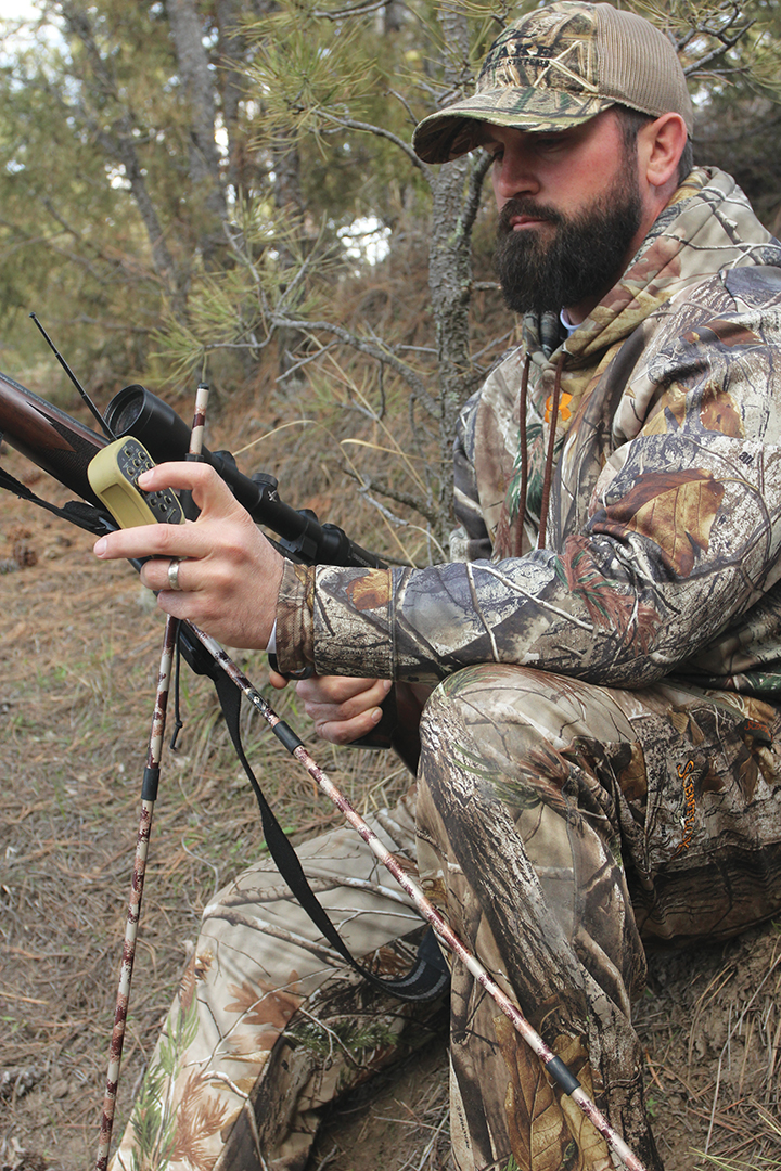 With an e-caller, a predator hunter can be his own best hunting buddy by placing the speaker upwind and operating it by remote control to intercept predators that circle downwind of the call.