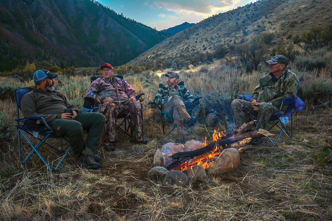 Sitting around the campfire with friends recalling old memories and planning the next day's hunt led Jason to success after he learned his father found a large herd of elk on a nearby mountain earlier in the day.