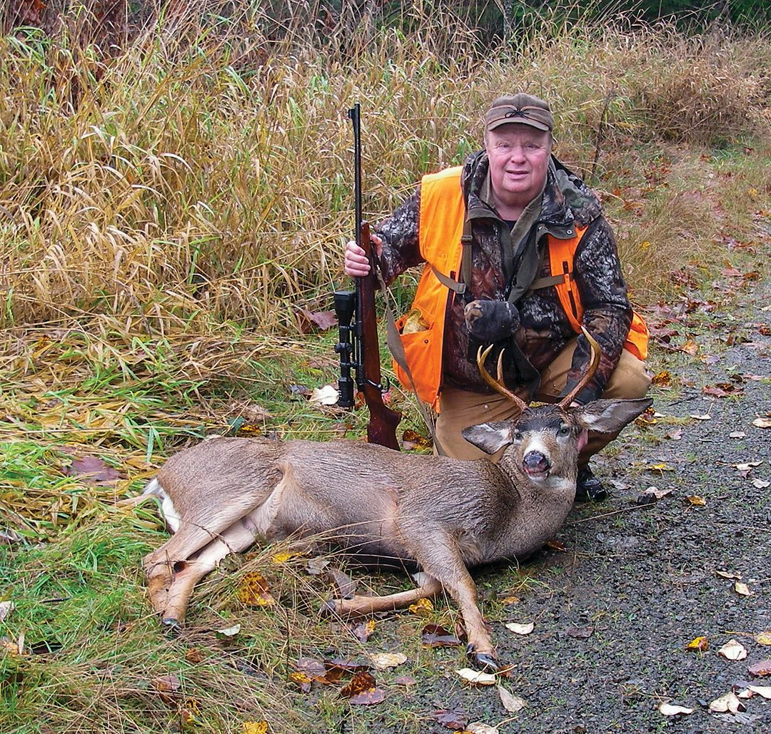 Gene Brame shot this buck as it crossed an old logging road.