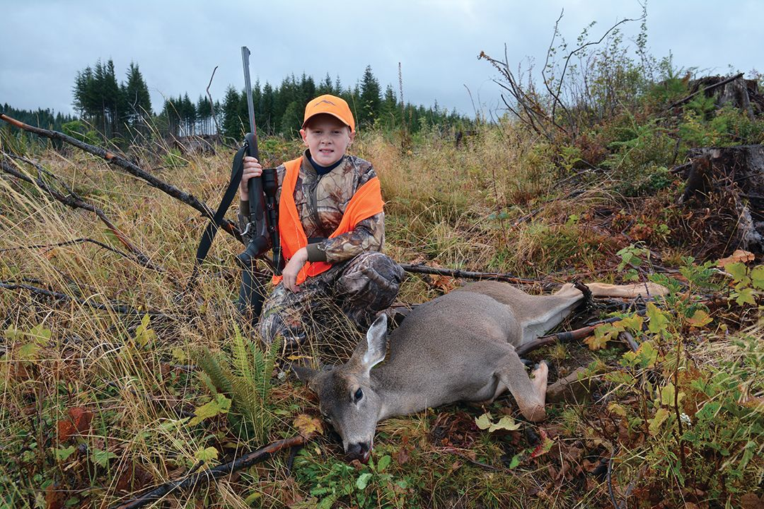 Jason's son Ryan shot this doe he spotted at the edge of a clear-cut.