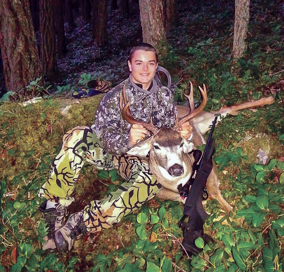 Logan Kitselman and his father Todd hunt old growth for mature blacktail bucks.