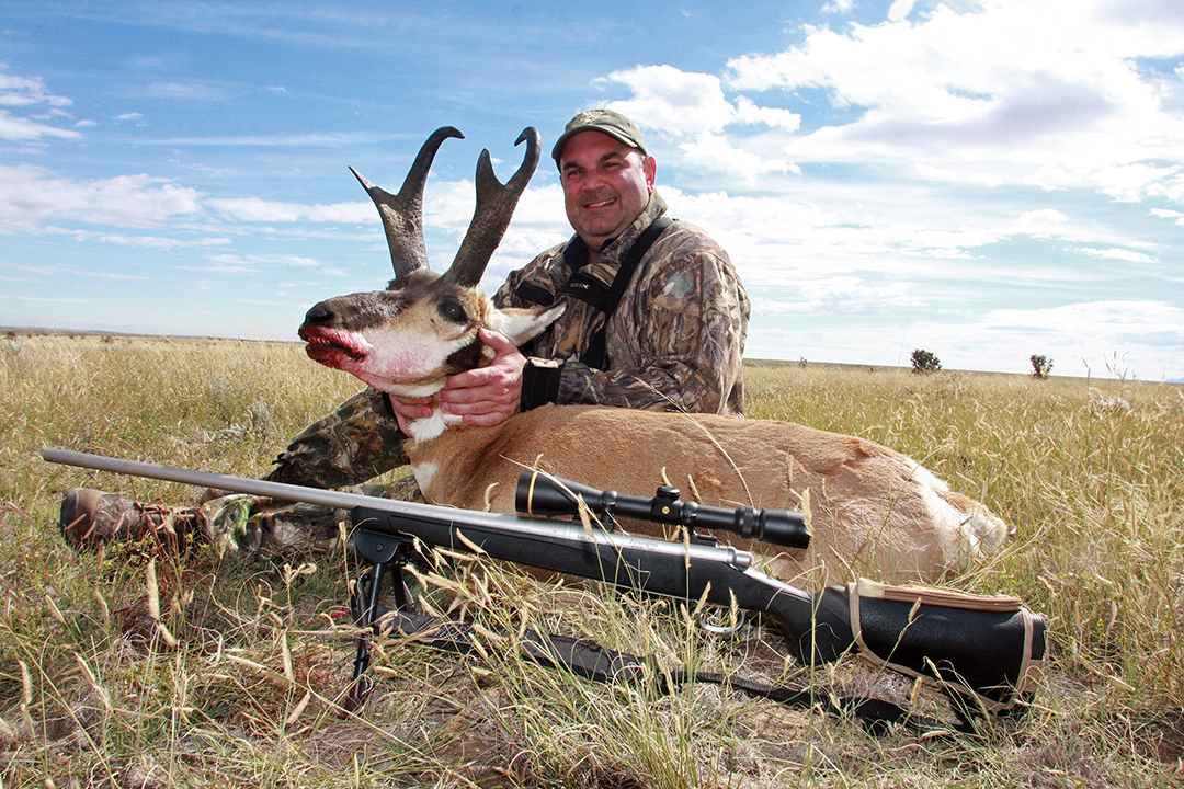 Ron's hunting buddy Jeff was quite happy with his large-pronged buck.