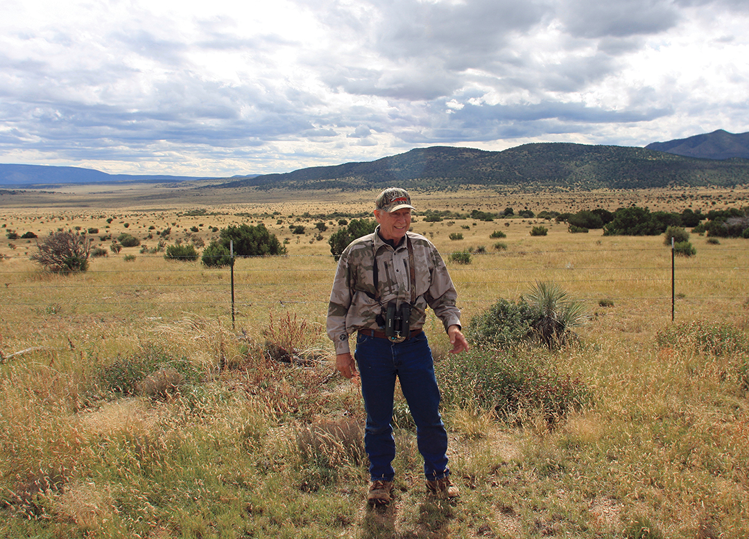 Ron had time to relax a bit and glass pronghorns before starting the hunt.