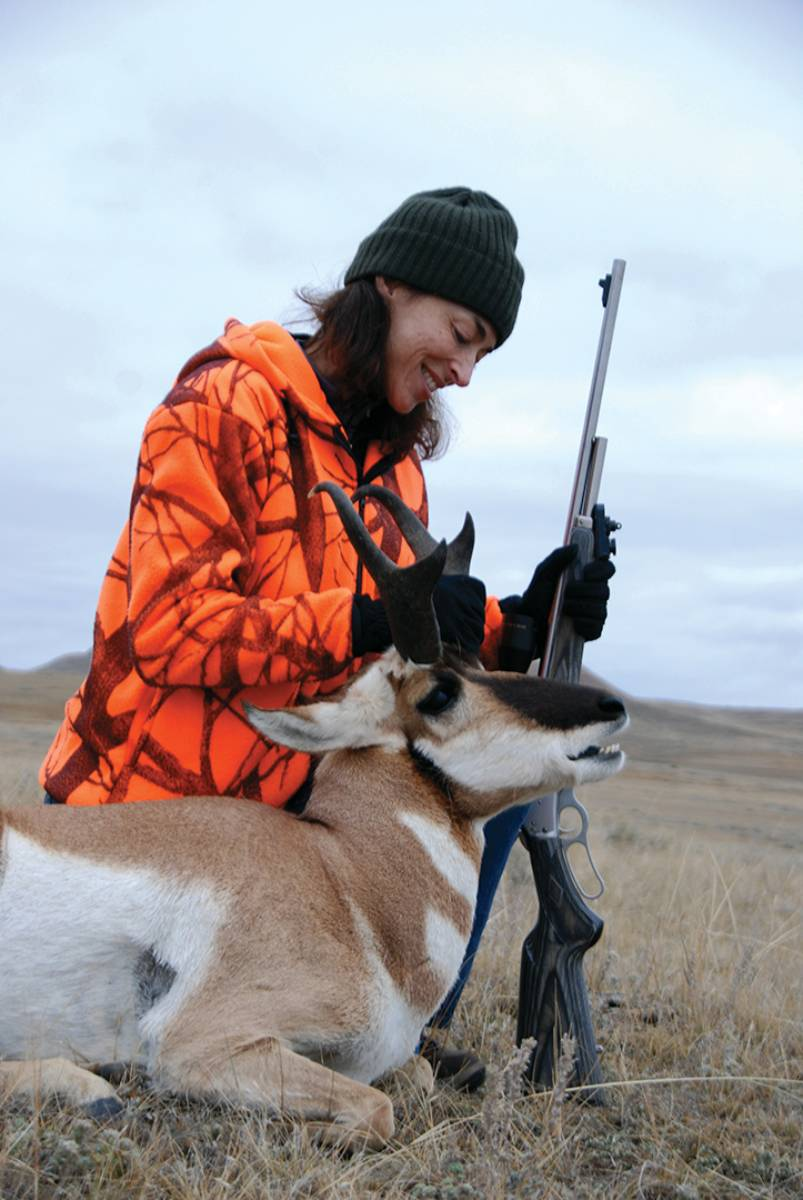 Lisa Ballard shot her first antelope using ambush tactics that allow novice hunters time to prepare for the shot in advance.